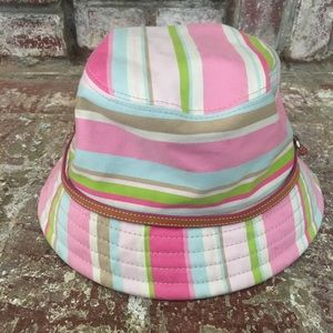 Coach Women's Cabana Stripe  Buccket Hat